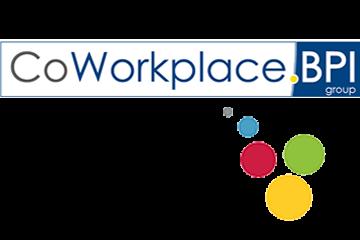Logo du CoWorkplace BPI group avec les bulles emblématiques