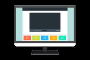 Ecran d'ordinateur sur un site de partage de vidéo