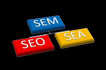 Logo Référencement SEO et SEA = SEM