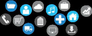 Des services représentés sous forme d'icone